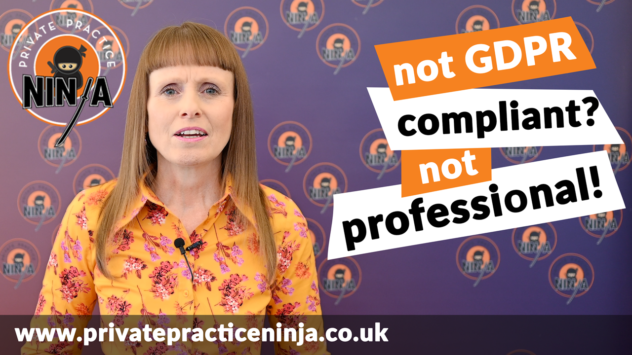 not compliant not professional